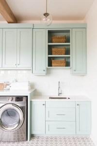 Coastal Blue Laundry Room Design - Home Bunch Interior ...