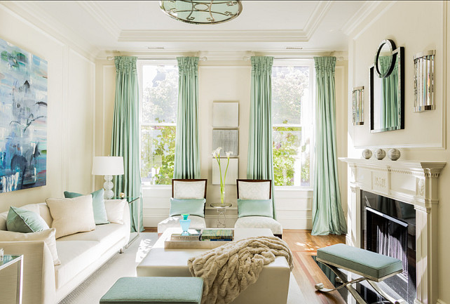 Coastal Living Rooms White With Mint Accents Living Room Area Interior  Design