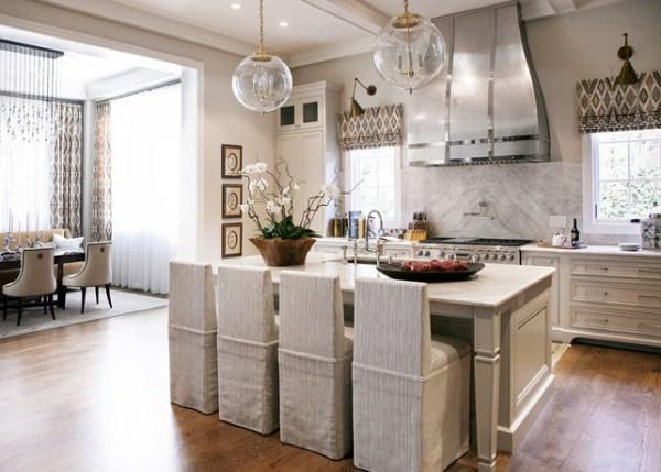 warm kitchen design Warm White Kitchen Design & Gray Butler's Pantry - Home
