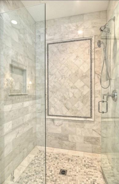 master bathroom tile design ideas Family Home with Coastal Transitional Interiors - Home