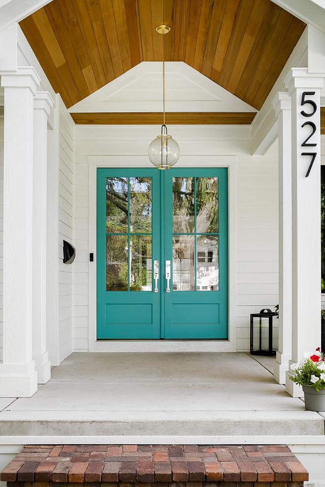 White Farmhouse with WrapAround Porch  Home Bunch