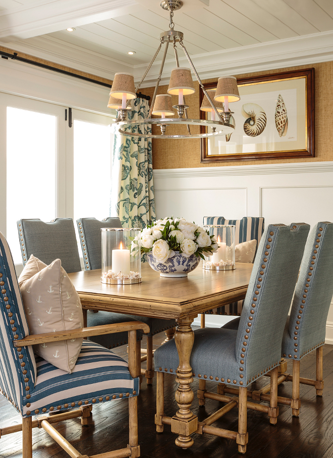 small dining room chairs rocking for nursery classic coastal interior inspiration - home bunch design