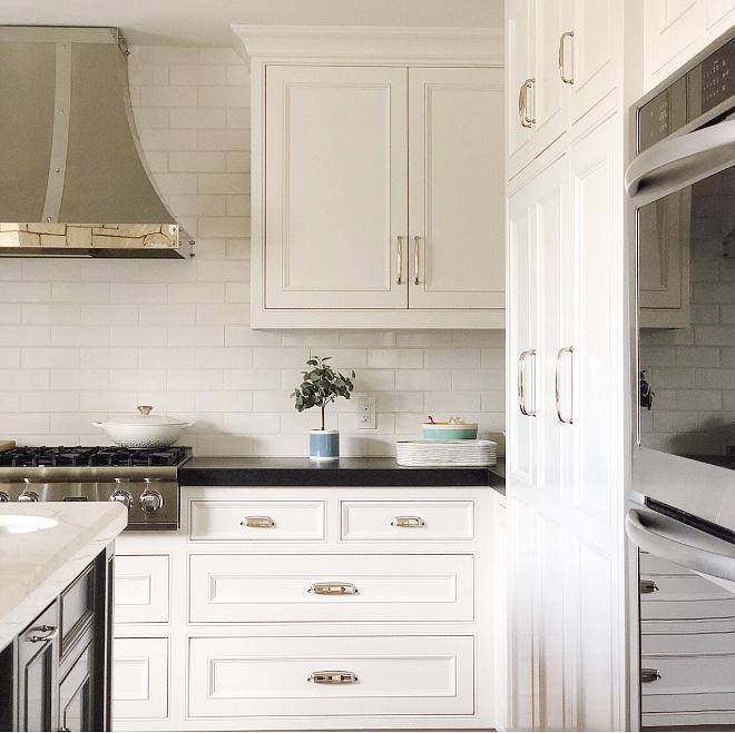 gray subway tile kitchen wood table instagram interior design: @artfulhomestead - home bunch ...