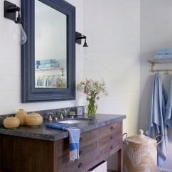 Farmhouse Kitchen Table With Bench Granite Countertops Coastal Lake Cottage - Home Bunch Interior Design