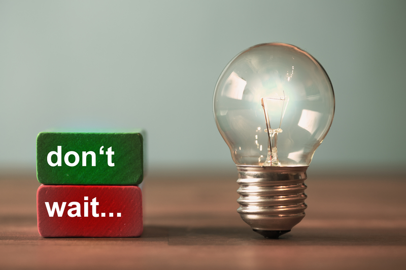 TheBest Marketing Advice is Very Simple: Don't Wait. Take Action.