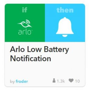 IFTTT for Arlo HD Recipe