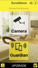 Surveillance App to use a smartphone as a home security camera