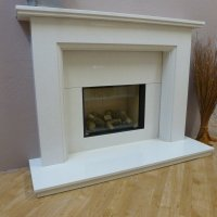 Essential Fireplaces Caldbergh 54 Inch Traditional Marble ...