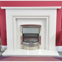 Essential Fireplaces Kepwick 48 Inch Marble Fireplace With ...