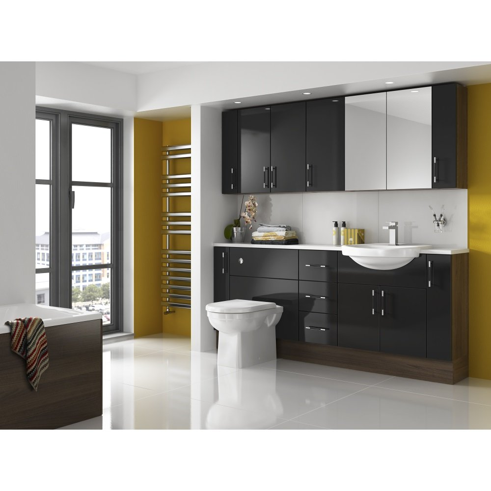 Shades Aspen Fitted Bathroom Furniture in Black  Shades from Homecare Supplies UK