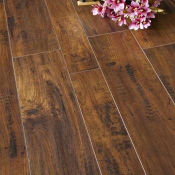 Red Mahogany 12mm Water Resistant Laminate Flooring  Home