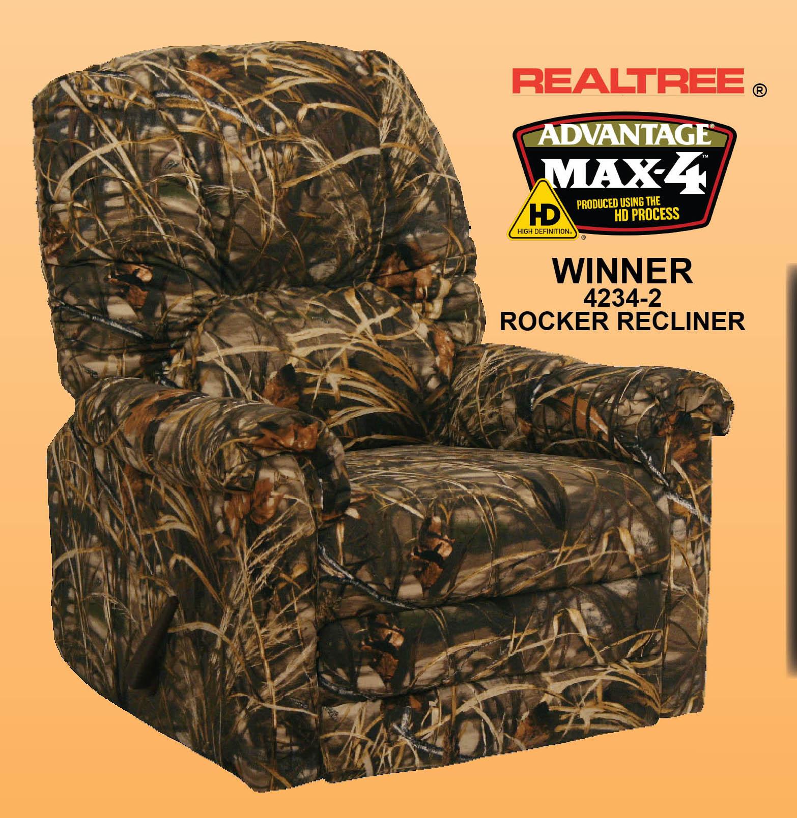 Winner MAX 4  Realtree Camouflage Rocker Recliner by
