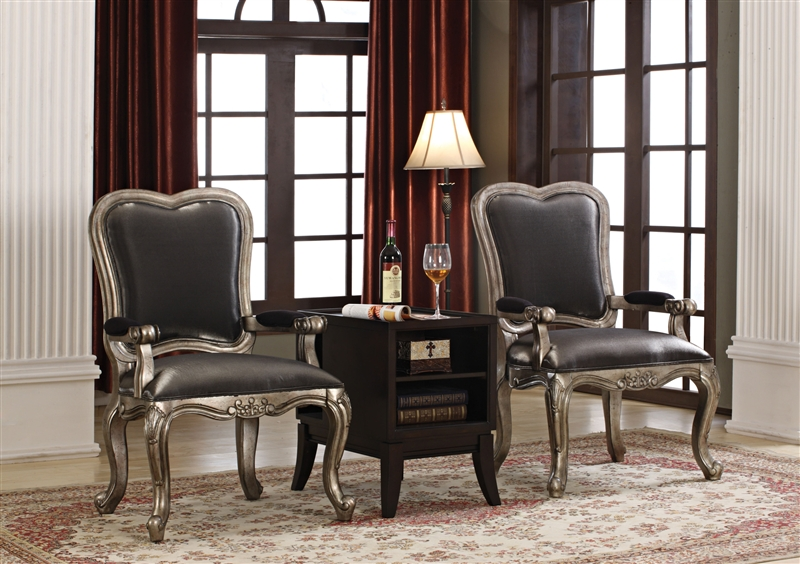 Chantelle 3 Piece Accent Chair and Table Set by Acme  962043