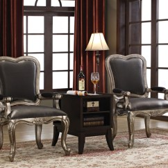 2 Accent Chairs And Table Set Kids Plastic Chantelle 3 Piece Chair By Acme 96204 Larger Photo