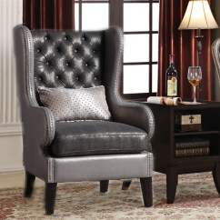 2 Accent Chairs And Table Set Lawn Chair Repair Webbing Chantelle Piece By Acme 96208 Larger Photo