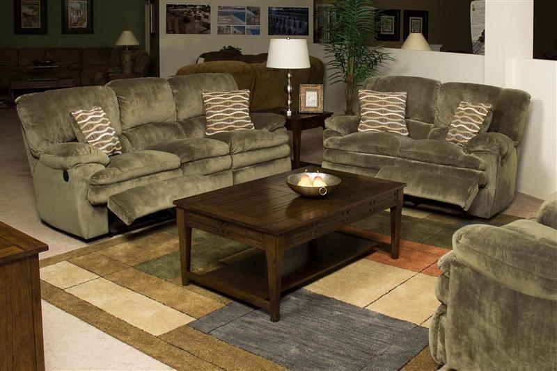 Easton 2 Piece Reclining Sofa Loveseat Set In Sage Fabric By & reclining sofa loveseat set | Centerfieldbar.com islam-shia.org