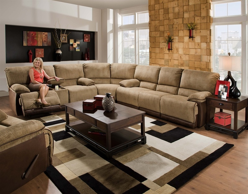 Clayton 3 Piece Power Reclining Sectional In Two Toned Cover By Catnapper 134 P