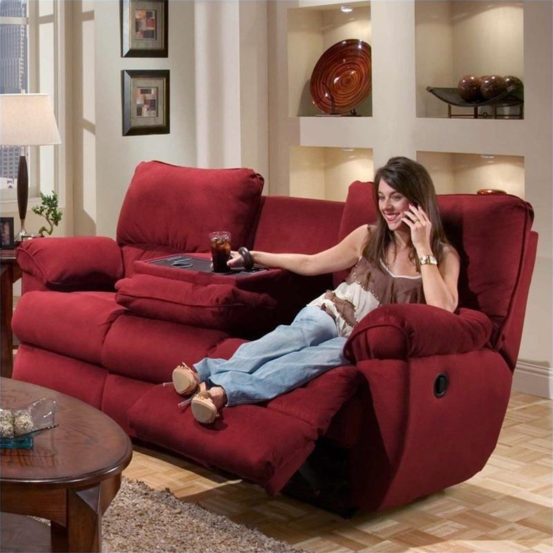 Legend Merlot Fabric Reclining Sofa by Catnapper  Manual
