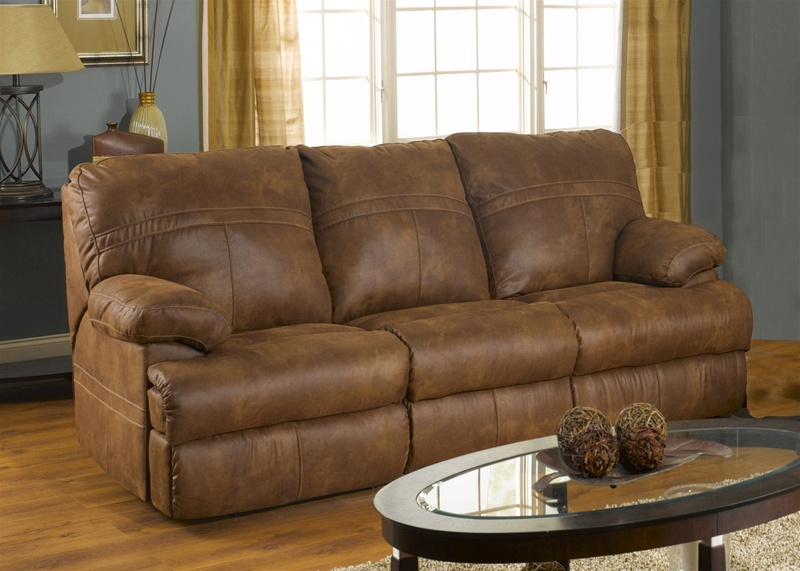 ranger manual reclining sofa in tanner fabric cover by catnapper 3791 tan