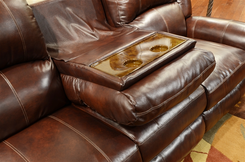 power reclining leather sofa sets lc5 style livingston with drop down table by ...