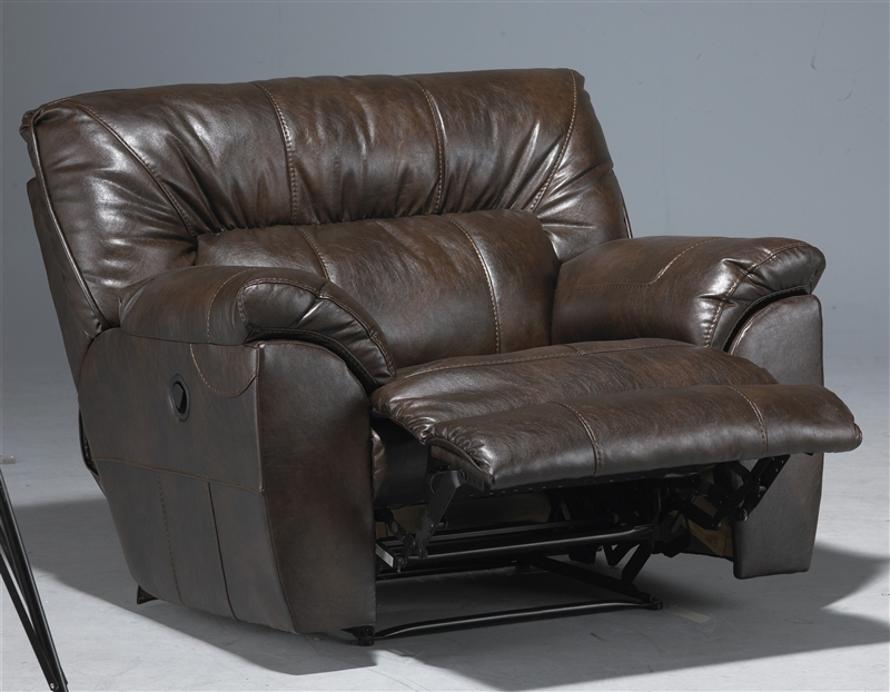 nolan power reclining sofa plush bed leather extra wide cuddler recliner by ...
