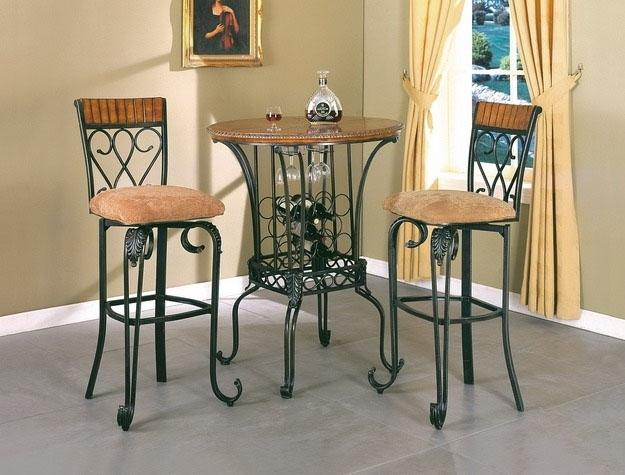 Alyssa 3 Piece Bar Table Set by Crown Mark  2980