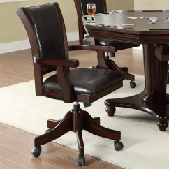 Poker Table Chairs With Casters Office Chair Mesh Marcus Bumper Dining 5 Piece Set In Mahogany Finish By Coaster 100873