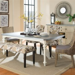 6 Piece Living Room Set Accent Tables Matisse Dining In Antique White Two Tone Finish By Coaster Larger Photo