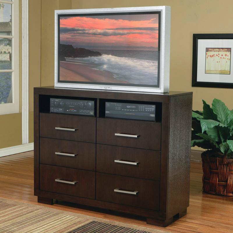 media chest for living room swivel chairs jessica in cappuccino finish by coaster 200716 larger photo