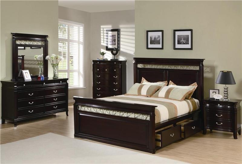 manhattan 6 piece bedroom set in rich espresso finish by coaster 201311