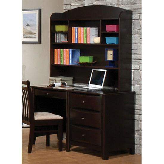 theater chair accessories tray for phoenix collection bedroom furniture computer/student desk with hutch in rich deep cappuccino ...