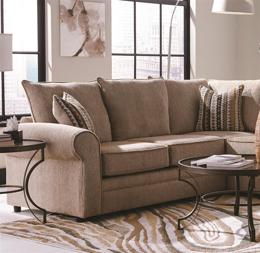 sofa loveseat sets sale ashley red and westwood 3-piece chenille sectional by coaster - 501001