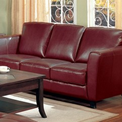 Theater Chair Accessories Cover Rentals Daytona Beach Fl Brady Red Brown Leather Sofa By Coaster - 501241