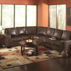 Pictures Of Living Rooms With Brown Sectionals Large Corner Sofa In Small Room Howard Dark Leather Sectional By Coaster 503441