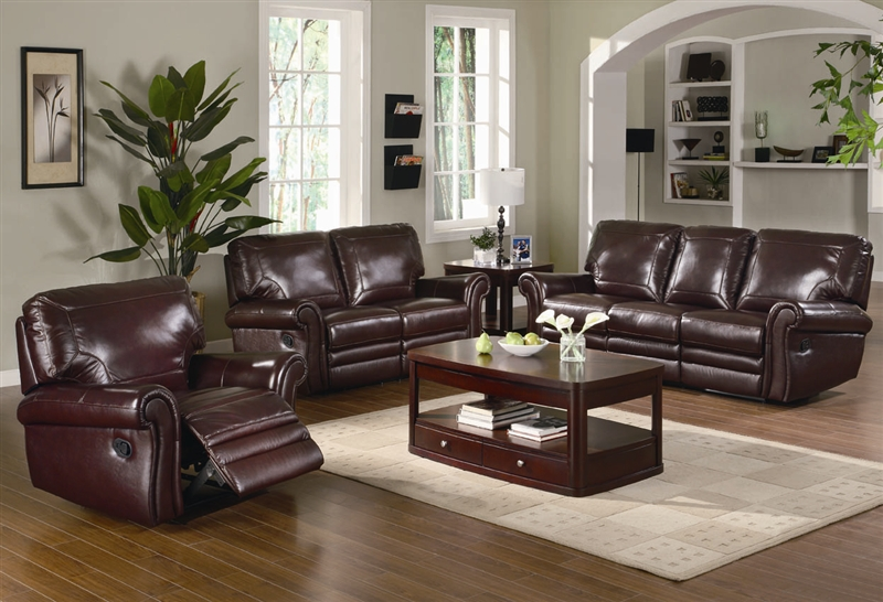 2 piece brown leather sofa fabric corner australia teagan reclining set in burgundy upholstery by larger photo