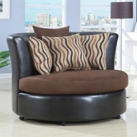 Upholstered Round Cuddle Chair by Coaster - 900274