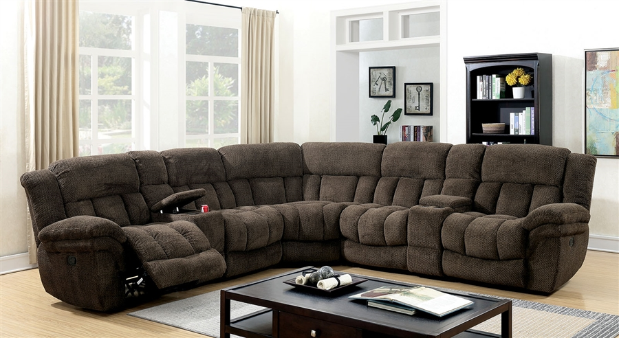 irene sectional sofa in brown by furniture of america foa cm6585br