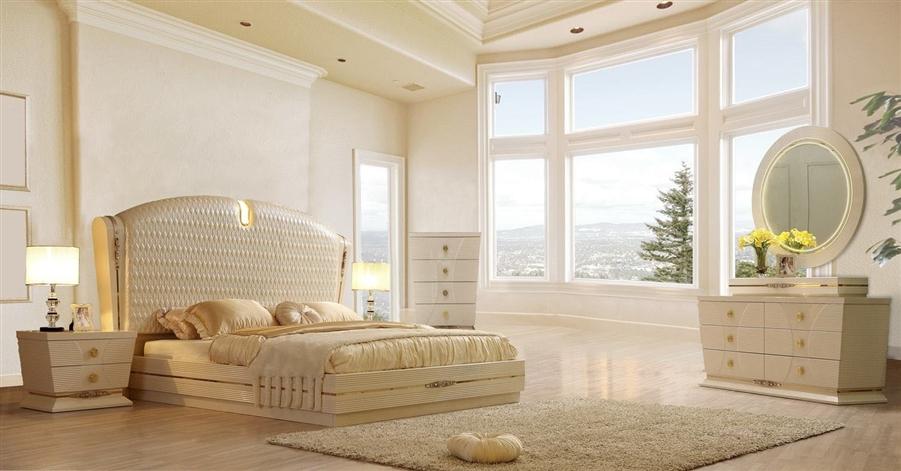 Luxury Oversized Textured Headboard 6 Piece Bedroom Set By Homey Design Hd 914 Bedroom