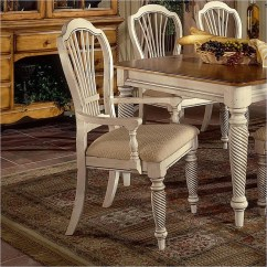 Antique White Dining Chairs Lawn Chair Cushion Wilshire 7 Piece Rectangle Set In And Pine Two Tone Finish By Hillsdale Furniture 4508 819