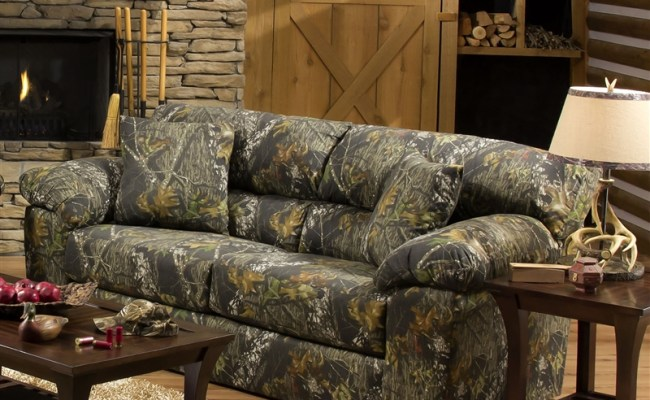 Big Game Sofa In Mossy Oak Camouflage Fabric By Jackson