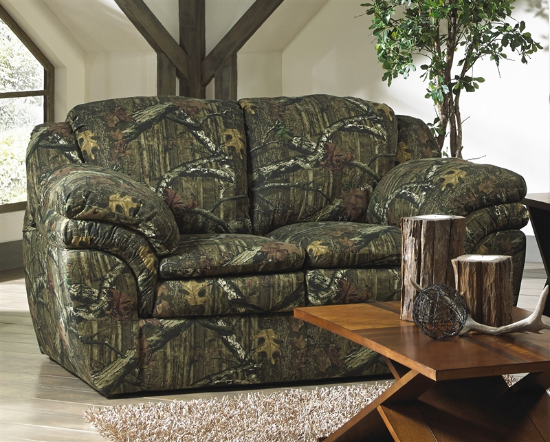 rocking recliner chairs rattan effect garden uk huntley loveseat in mossy oak or realtree camouflage fabric by jackson furniture - 3212-02