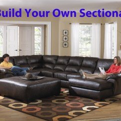 Build Sectional Sofa Bed Clearance Canada Lawson Your Own Leather By Jackson 4243 Larger Photo