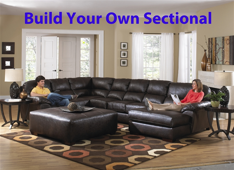 lawson build your own leather sectional by jackson 4243