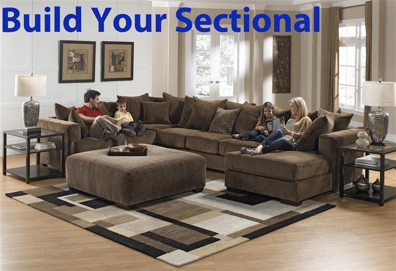 ferguson build your own sectional in chocolate fabric by jackson 4305