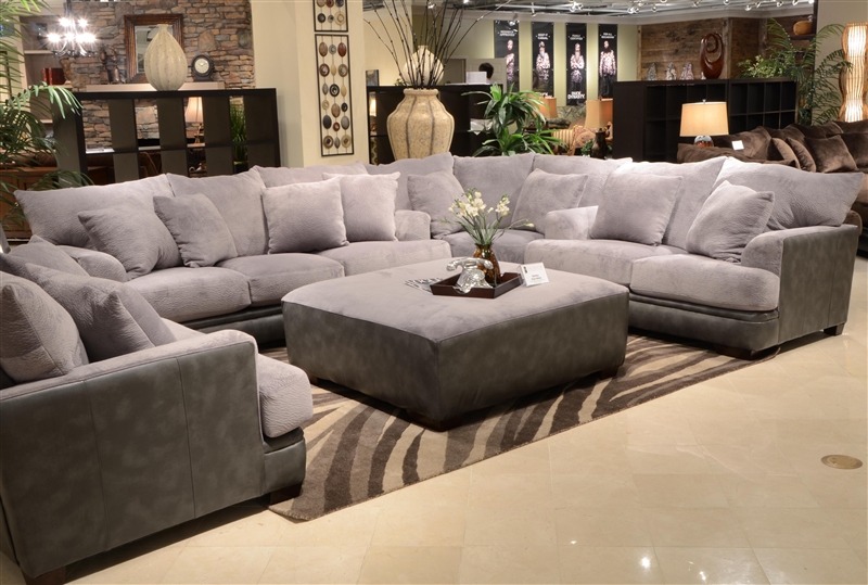 barkley 3 piece sectional in grey fabric by jackson furniture 4442 sec g