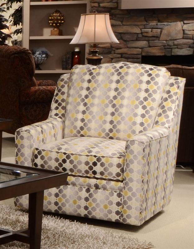 Sutton Accent Swivel Chair in Cobblestone Canary