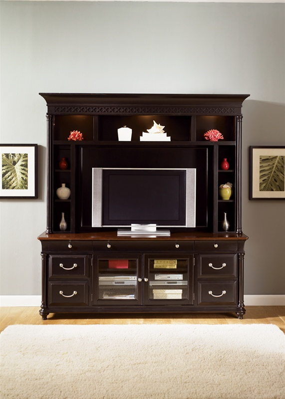 St Ives 50Inch TV Entertainment Center in Chocolate  Cherry Finish by Liberty Furniture  260ENT