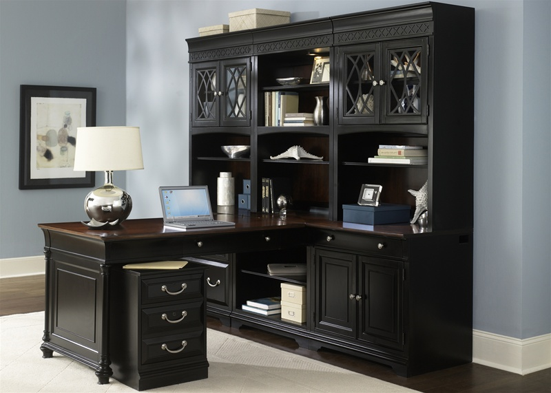 St Ives Executive Home Office Peninsula Set With Hutch In