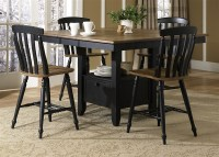 Al Fresco Gathering Table 5 Piece Counter Height Dining ...