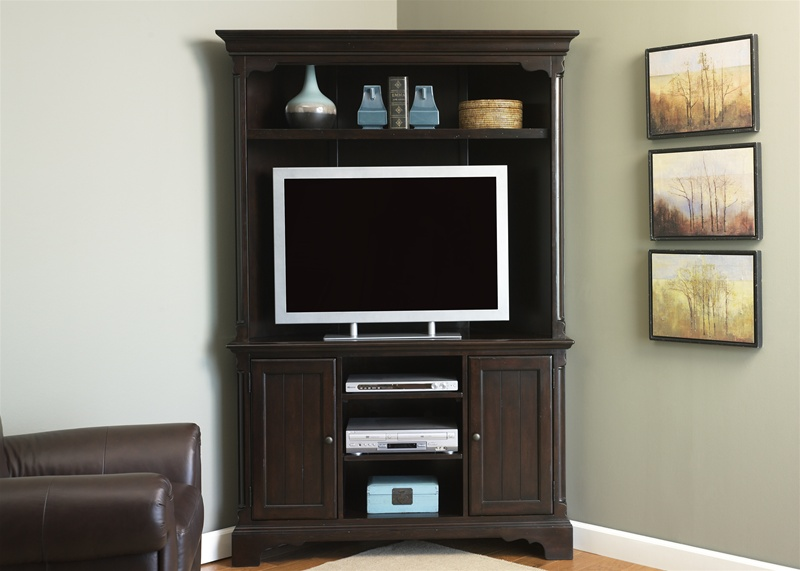 Carriage House Corner Entertainment Center 48Inch TV in